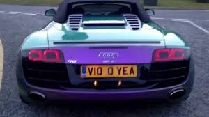 audi color changing car tuned audi r8 v10 supercar with colour changing paint