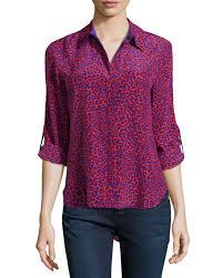 purple silk blouse diane furstenberg lorelei leopard print silk blouse purple