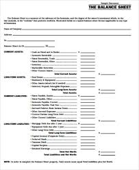 sample balance sheets in pdf 7 examples in word pdf