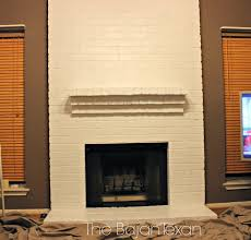 how to paint a brick fireplace u2013 the bajan texan