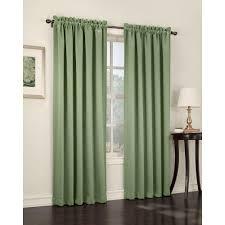 sun zero semi opaque sage green gregory room darkening pole top curtain panel 54