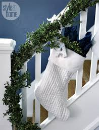 How To Decorate Banister With Garland 100 Awesome Christmas Stairs Decoration Ideas Digsdigs