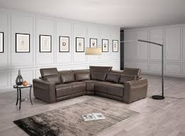 Colored Sectional Sofas by Estro Salotti Thelma Modern Brown Italian Leather Sectional Sofa