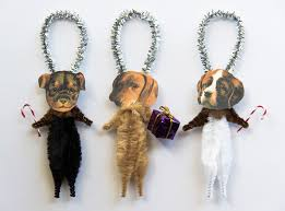 dogs chenille ornaments ornaments
