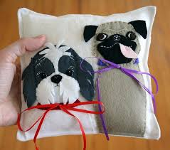 dog ring bearer pillow pillow4 ring bearer pillows and dog