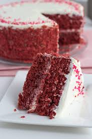 red velvet cake with white chocolate frosting cookie dough and