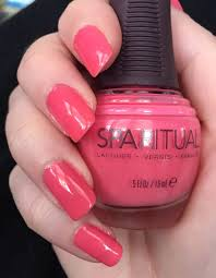 nenta u0027s frivolity happy coral pink nails with sparitual