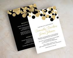 black and gold wedding invitations wedding invitations black and gold beautiful best 25 black and