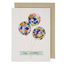balloons confetti shaker greeting card