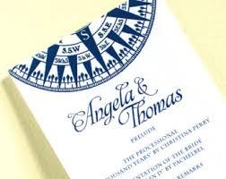 nautical wedding programs wedding invitations and nautical by concertinapress on etsy