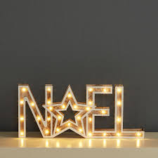 wooden noel sign with white led lights robert dyas