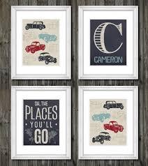 Transportation Nursery Decor Vintage Trucks And Transportation Theme For Boys Nursery Or