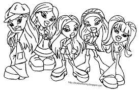 bratz coloring pages sun flower pages