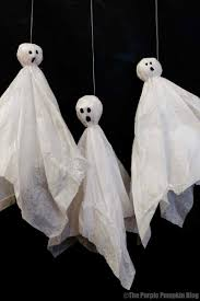 tissue paper ghosts crafty october day 5