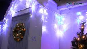 white icicle christmas lights 360 led snowing icicle christmas lights blue and white b00jvolfg4