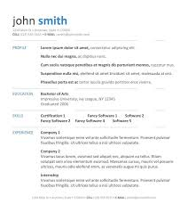 simple resume outline free 7 simple resume templates free download best professional resume