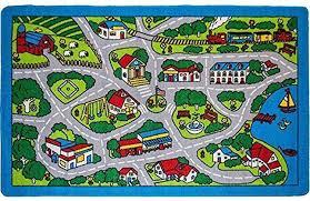 Large Kids Rugs by Amazon Com Kids Rug Street Map In Grey 5 U0027 X 7 U0027 Children Area Rug