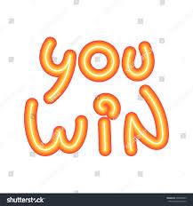 congratulation banner you win congratulation banner vector illustration stock vector