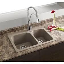Overmount Kitchen Sinks Kraus 33 Inch Dual Mount 50 50 Bowl Granite Kitchen Sink W