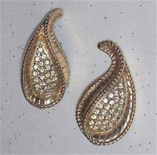 bergere earrings bergere earrings rhinestone ebay