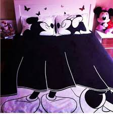 Mickey And Minnie Mouse Bedding Scarf Bedding Bed Linen Blanket Disney Couple Love Pillow