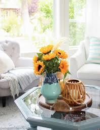seasonal simplicity fall living room tour happy housie