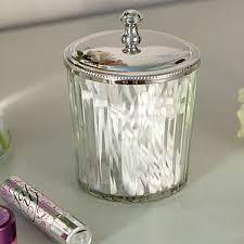 Bathroom Glass Storage Jars Clear Glass Storage Jar Tins Jars Bottles Bathroom
