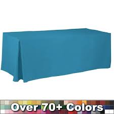 8 ft table cloth with logo non printed 8 ft fitted style tablecloth with pleats trade show