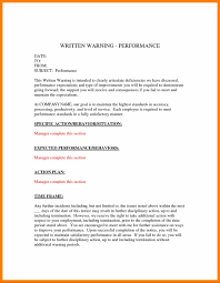employee written warning letter template write up template letter