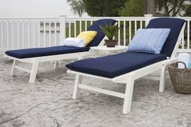 Polywood Syracuse In Polywood Nautical 3 Piece Chaise Set With Cushions U0026 Reviews