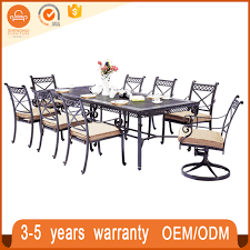 party table and chairs for sale cheap black cast aluminum dining set patio 6 chairs and table