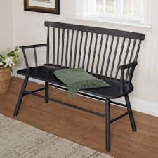 entryway benches with backs rectangle back windsor bench seat farmhouse country bench seat