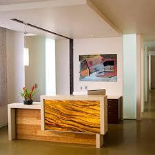 Illuminated Reception Desk Stone Veneer Usa