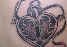 100 key and locket tattoo skeleton key tattoo key back
