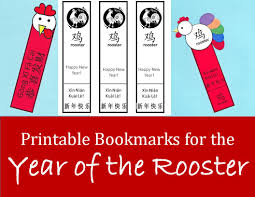 printable rooster bookmarks for chinese new year kid crafts for
