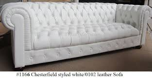 Chesterfield White Leather Sofa Gorgeous Chesterfield Style Modern White Top Grain Premium Leather