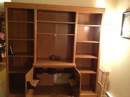 Wall Unit Bookshelves - office 2 built in bookshelves