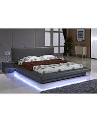 Gray Platform Bed Don U0027t Miss This Bargain Us Pride Furniture Grey Leather With Led