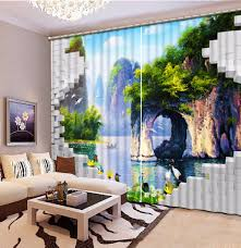 online get cheap fairies room aliexpress com alibaba group customize 3d curtains for living room photo fairy lake face mountain fairyland 3d stereoscopic pattern blackout