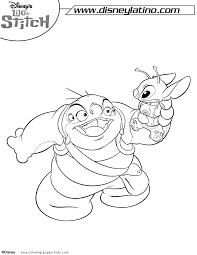 lilo stitch color disney coloring pages color plate