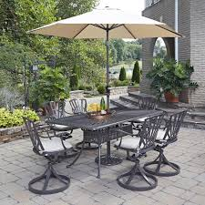 Outdoor Patio Dining Sets With Umbrella - home styles largo 42 in 5 piece patio dining set with umbrella