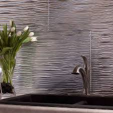 fasade backsplash waves in brushed aluminum future dream