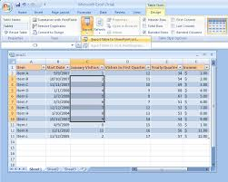 table tools design tab exporting a table to a sharepoint list sharepoint collaboration