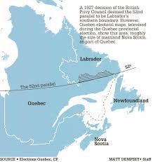 Map Of Quebec Quebec Electoral Map Crosses The Line The Chronicle Herald