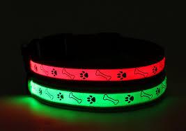 light up collar amazon amazon com big smile pet dog collar nylon webbing led rechargable