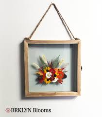 brklyn blooms pressed flower wall hanging and other seasonal home