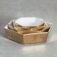 Relish Decor Doré Nesting Hexagonal Serving Trays Gold Rosanna Relish Decor
