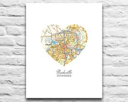 Map Of Nashville Tennessee by Nashville Tennessee Vintage Map Art Digital Download