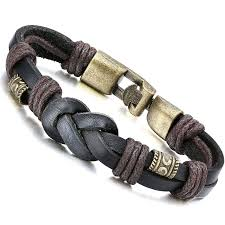 braid rope bracelet images Jstyle jewelry braided leather bracelets for men rope jpg