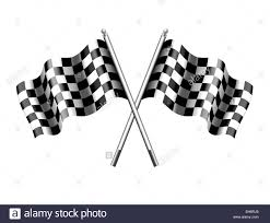 Checkered Racing Flags Checkered Chequered Flag Racing Flags Formula 1 Stock Photo
